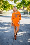 Clemson Tigers Ladies Tee Shirt Dress X-SMALL