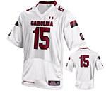 South Carolina Gamecocks Youth 2015 #15 White Jersey YMD
