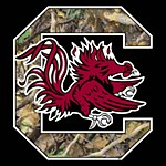 "South Carolina Gamecocks 3"" Camo Block ""C"" Decal"