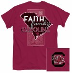 South Carolina Gamecocks Faith, Family & Carolina T-Shirt SMALL