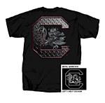 """South Carolina Gamecocks Metal Block """"C"""" T-Shirt SMALL"""