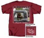 South Carolina Gamecocks Dog Truck T-Shirt SMALL