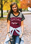 South Carolina Gamecocks Ladies Football Tee SM