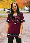 South Carolina Gamecocks Oversized Ladies Jersey Top SM