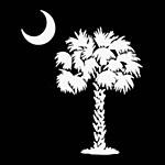 Palm White Sticker