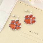 Clemson Tigers Crystal Earrings