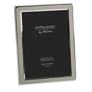 "Silverplated Flat Photo Frame - 5"" x 7"""