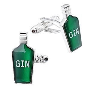 Cufflink Pair - Gin Bottle