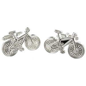 Cufflink Pair - Cycling Bicycle