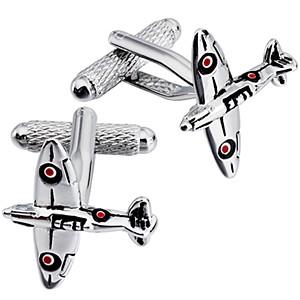 Cufflink Pair - Aeroplane Spitfire