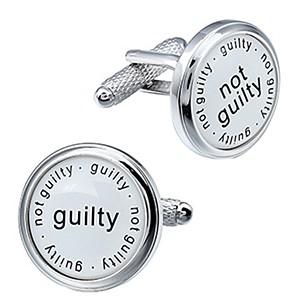 Cufflink Pair - Guilty Not Guilty