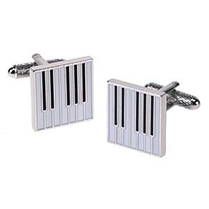 Cufflink Pair - Piano Keyboard