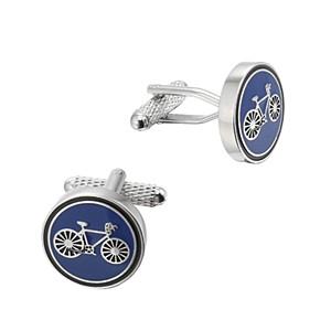 Cufflink Pair - Cycling (Blue)