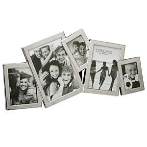 Silverplated Flat Photo Frame - 5 x Multi Apeture