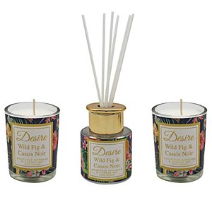Desire Tropical Votive & Mini Reed Diffuser Set - Fig Cassis