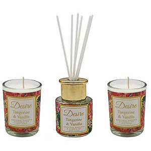 Desire Tropical Votive & Mini Reed Diffuser Set - Tang Vanilla