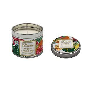 Desire Tropical Candle Tin Citrus Sage