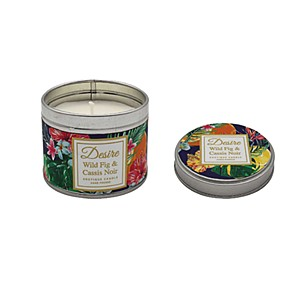 Desire Tropical Candle Tin Fig Cassis