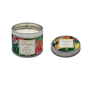 Desire Tropical Candle Tin Lotus Blossom