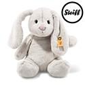 Steiff Soft Cuddly Friends Hoppie rabbit, light grey 28cm.