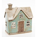 Village Pottery Traditional House Tealight