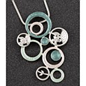 Sage Tones Modern Circles Necklace