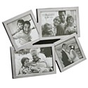 Silverplated Flat Photo Frame - 4 x Multi Apeture