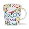 Dunoon Hugs & Kisses Lomond Shape Mug (320ml)