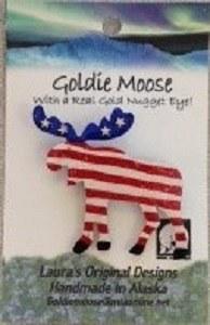 Pin/Goldie Moose/USA Flag