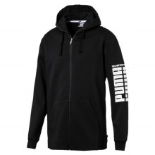 Mens Rebel Bold Full Zip Hoody Black