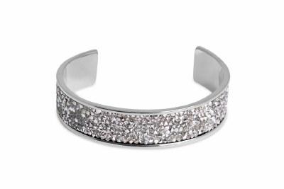 Tirano Cuff Silver Crystal