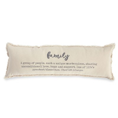 Washed Canvas Family Pillow