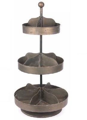 Metal 3-Tier Spin Display
