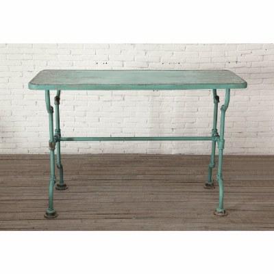 Distressed Blue Metal Table