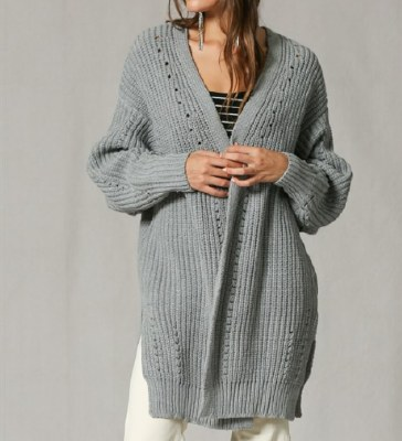 Knitted Open Cardigan Small/Me