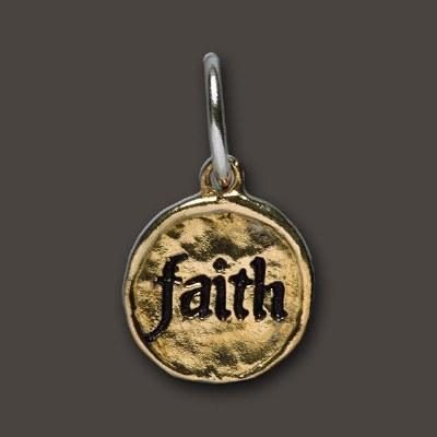 Brass Camp Faith Charm