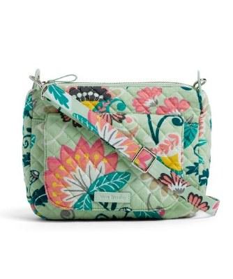 Carson Mini Shoulder Bag Mint Flowers
