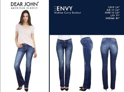 Envy Midrise Curvy Bootcut Jeans