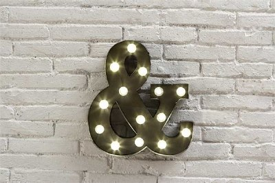 """&"" Metal Led & Lamp"