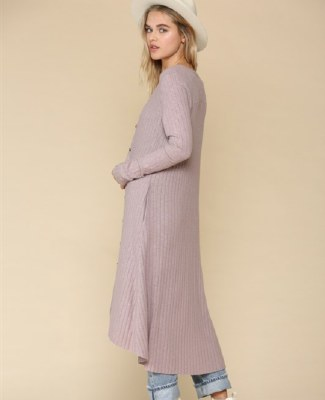 Duster LS Ribbed Open Front La