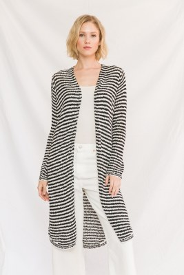 Striped Open Cardi Small