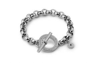 Toggle Bracelet Silver 20cm