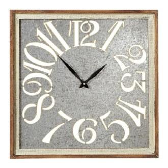 Square Galvanized Clock