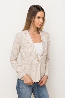 Stripe Button Jacket