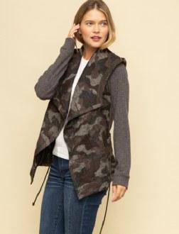 Rib Sleeve Wood Blended Jacket