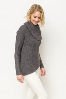 Asymetrical Turtleneck Sweater