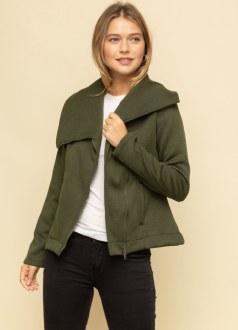 Asymmetrical Bottom Zip Jacket