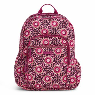Iconic Campus Backpack Raspberry Medallion
