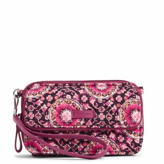 Iconic RFID All In One Crossbody Raspberry Medallion