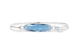 London Blue Silver Bar Bracelet